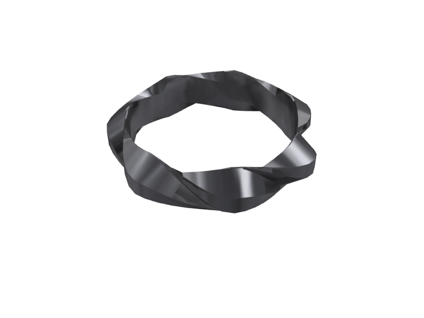 Twisted ring - 3D design by Lukáš Jiroušek on Aug 15, 2017
