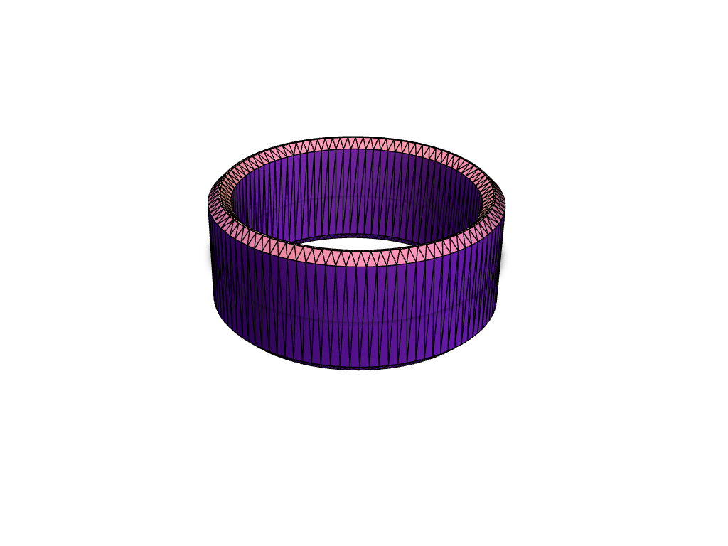 Basic ring with chamfered edges - 3D design by nphillips80 Jun 29, 2017