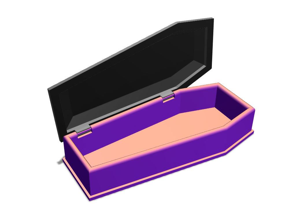 Vampire coffin candy box - 3D design by VECTARY Oct 20, 2017