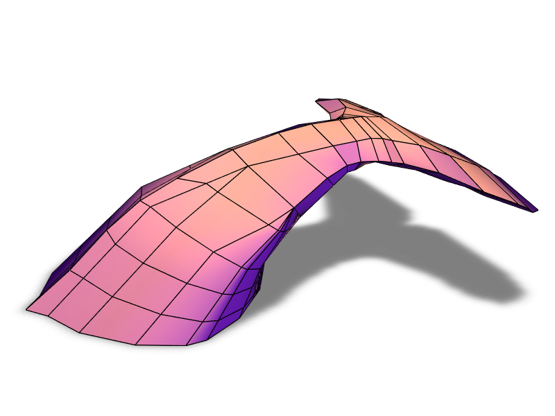 Whale tail - 3D design by Lukas Blank on Dec 25, 2017