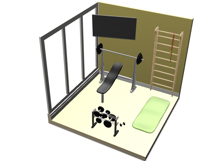 GYM - 3D design by suyeemon189 on Mar 7, 2018