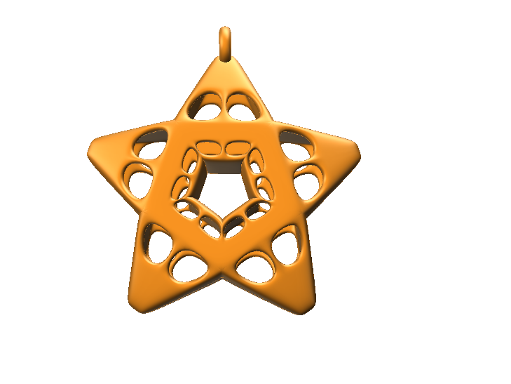 Belen star - 3D design by Felipe Aguirre Nov 30, 2017