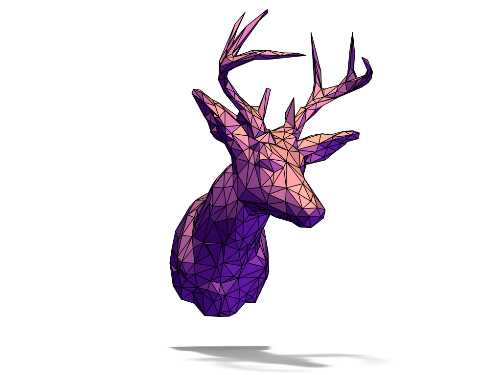 Deer Head - 3D design by ncassab Dec 19, 2017