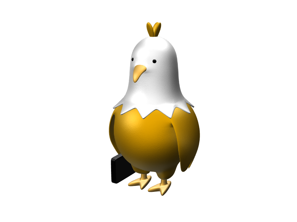 Mr. chicken - 3D design by blabla Mar 30, 2017