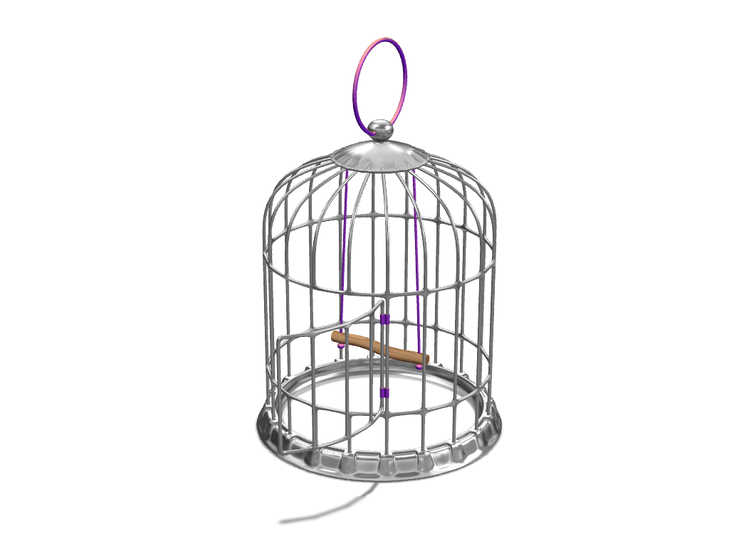 Bird Cage - 3D design by VECTARY Nov 23, 2016