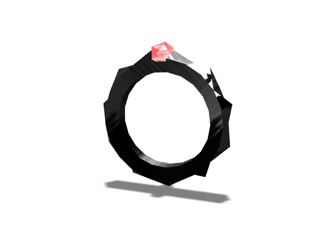 demon ring - 3D design by Simone Mario on Oct 19, 2017