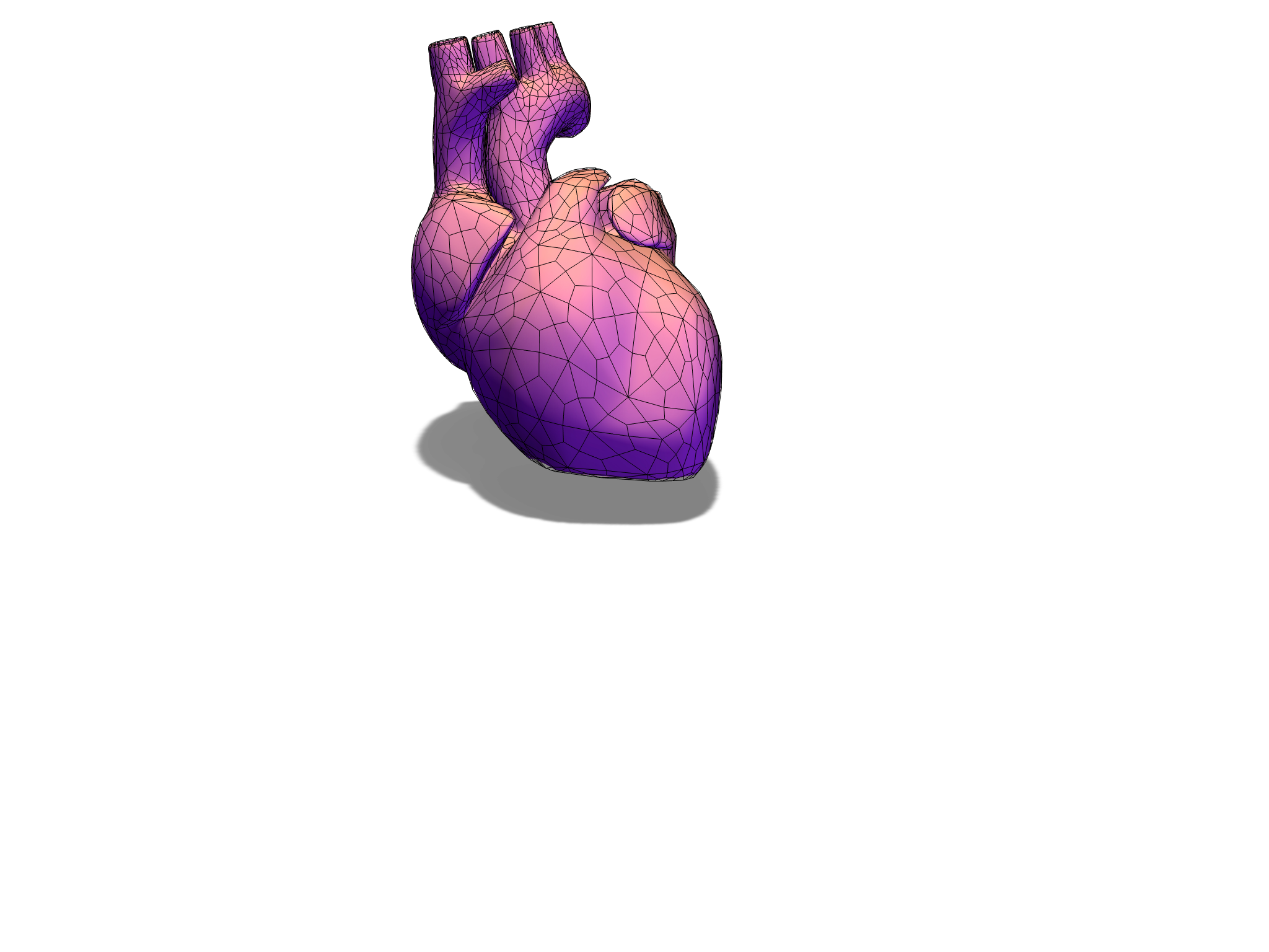heart 3D - 3D design by dbooski Jan 23, 2018