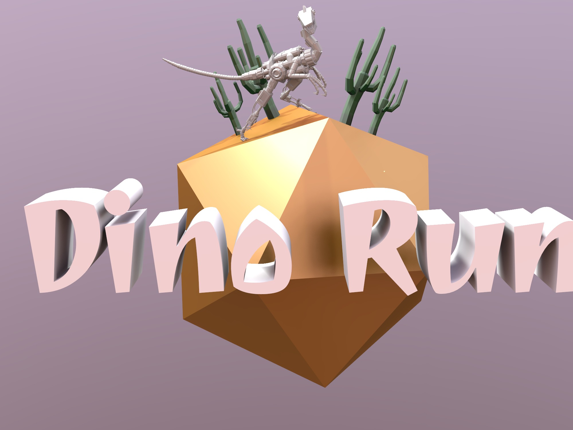 Dino Run (copy) - 3D design by 3007572 on Dec 17, 2018