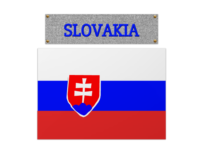 Slovakia flag - 3D design by Dylan Manion on Oct 11, 2017