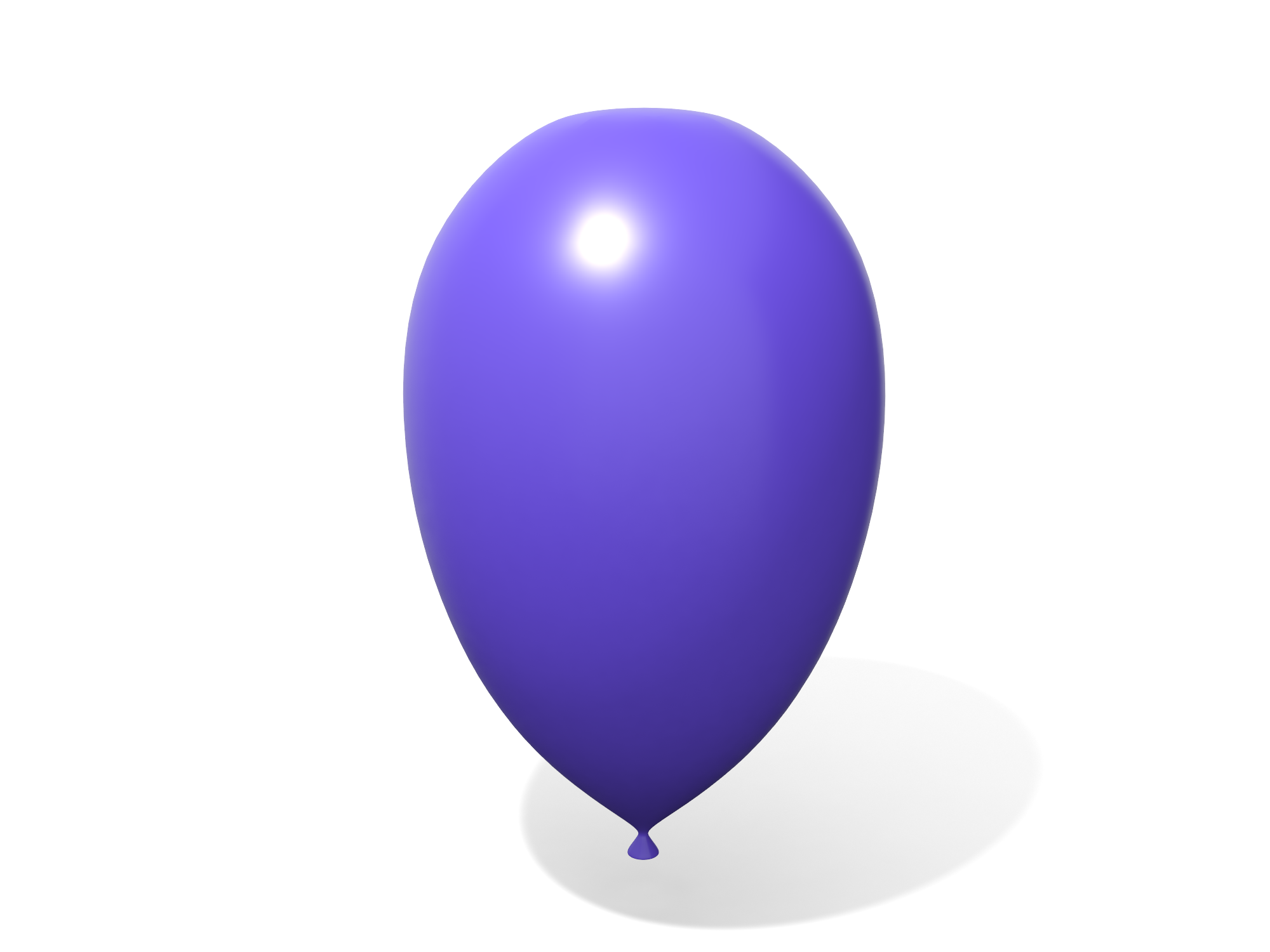 Stretched balloon - 3D design by Vectary assets Nov 5, 2018