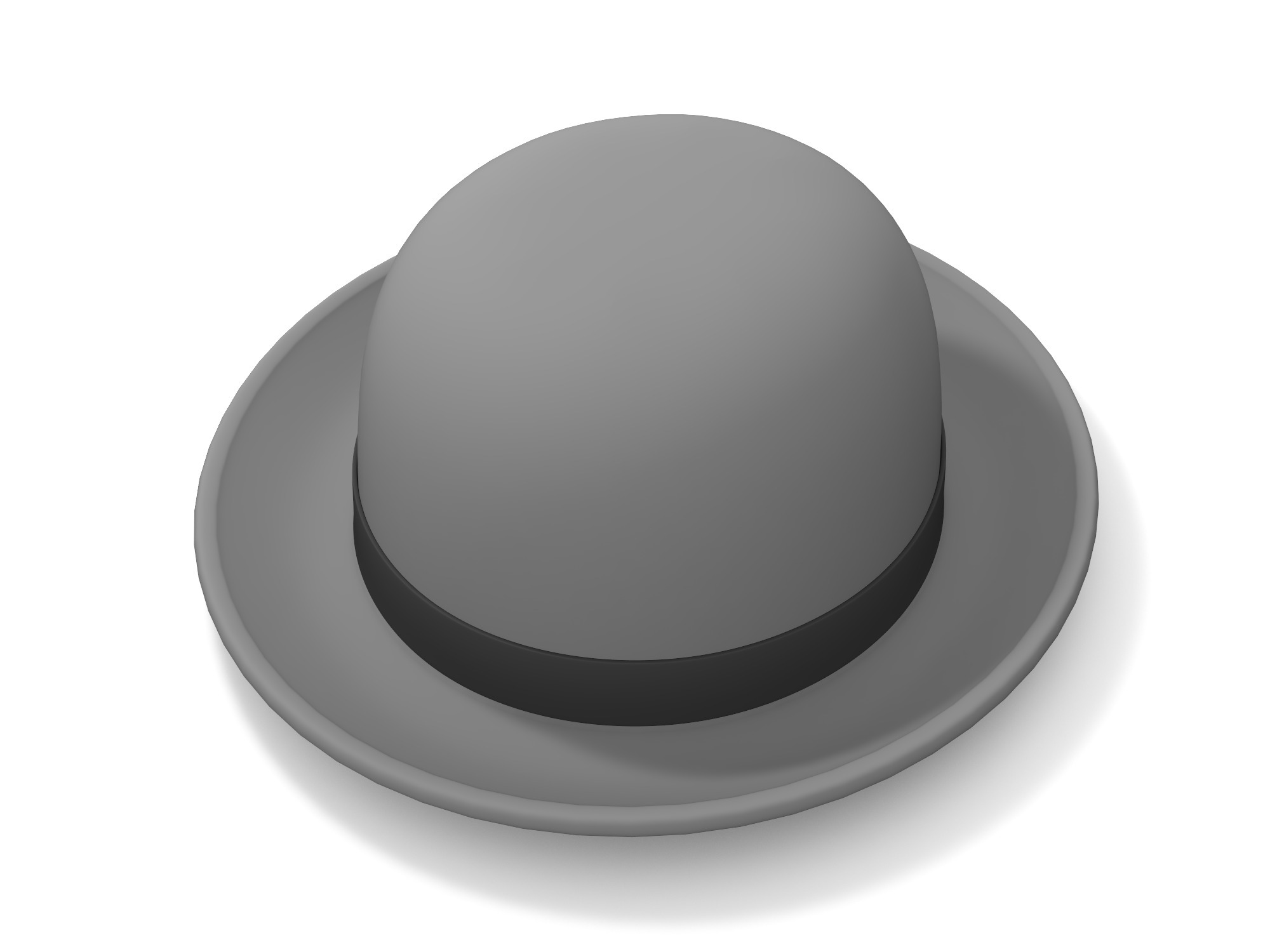 Bowler Hat - 3D design by Vectary assets Oct 11, 2018
