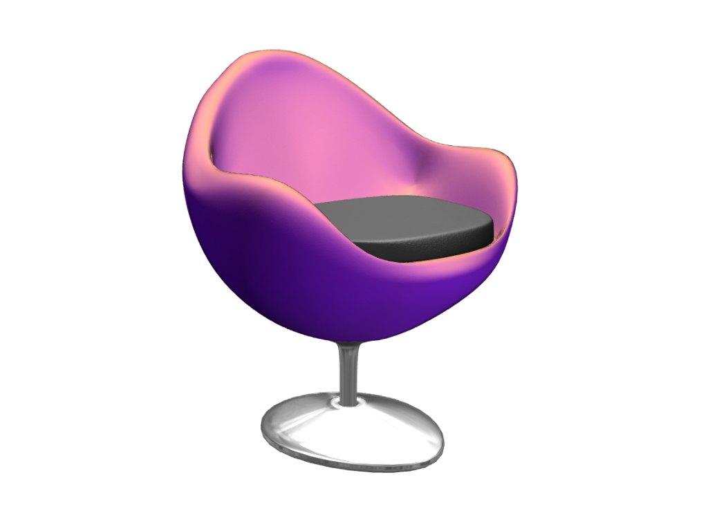 chair  - 3D design by Andy Klement Apr 27, 2017