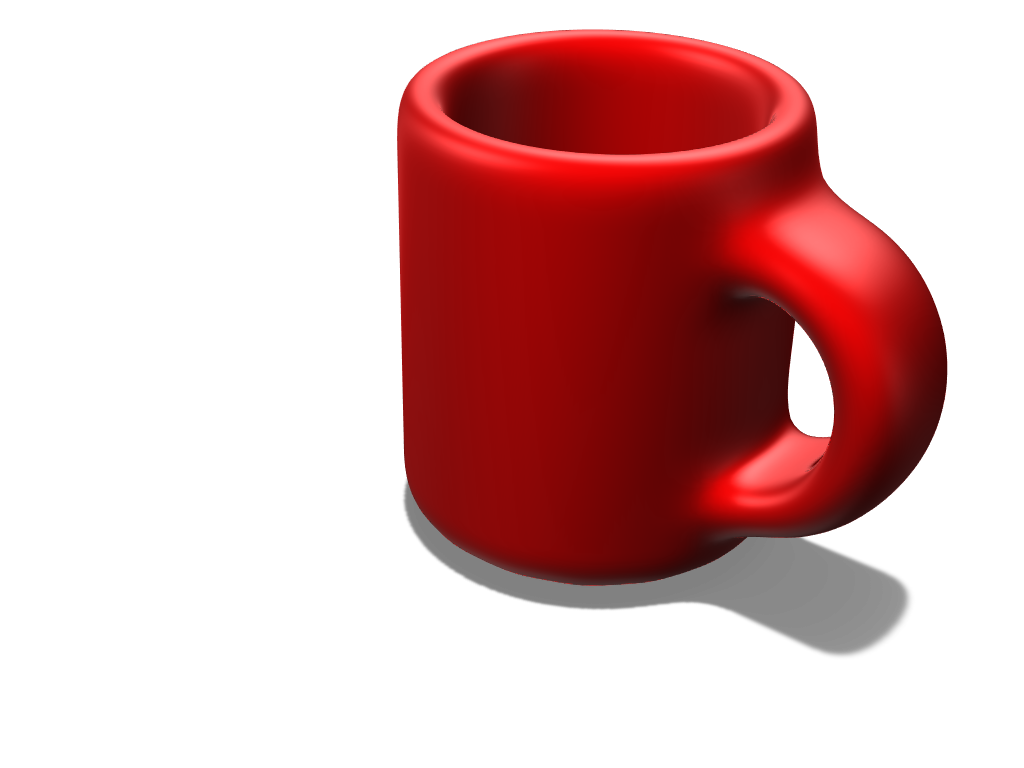 Red Mug - 3D design by breac020.315 May 11, 2018