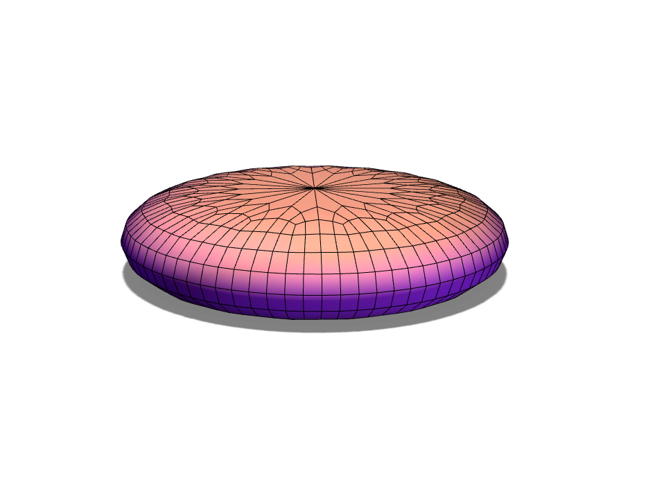 Disk with rounded edge - 3D design by 73893 Sep 11, 2017