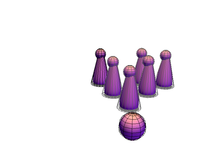 Bowling pins/Bowling Ball - 3D design by The Mii Lab on Aug 18, 2017