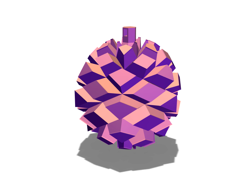 Pinecone bauble - 3D design by liwolisu Dec 20, 2017