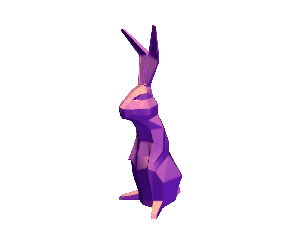 Low Poly Easter Bunny - 3D design by VECTARY Apr 16, 2017