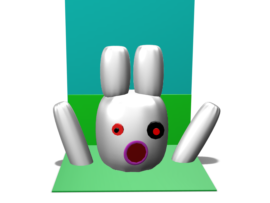 Evil bunny - 3D design by Oliexc on Mar 9, 2018