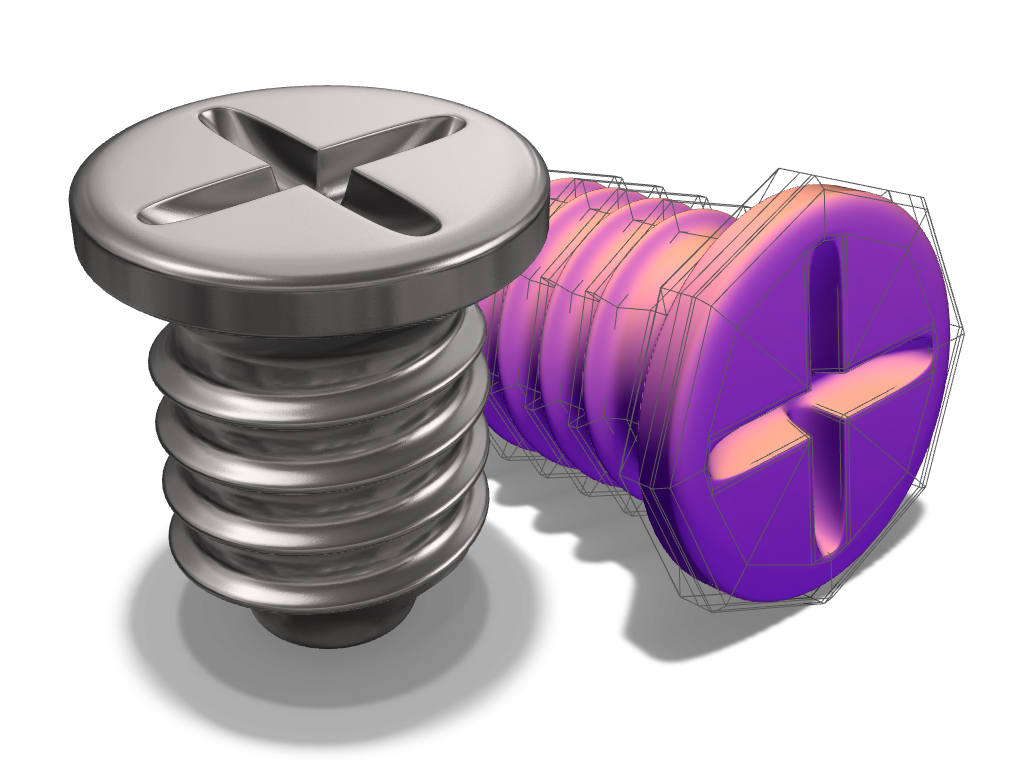 SubD Screw Test - 3D design by drafts Jul 18, 2017