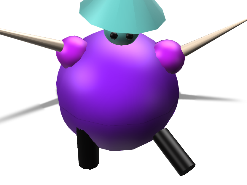 Purple  ninja - 3D design by nighttthing Nov 13, 2017