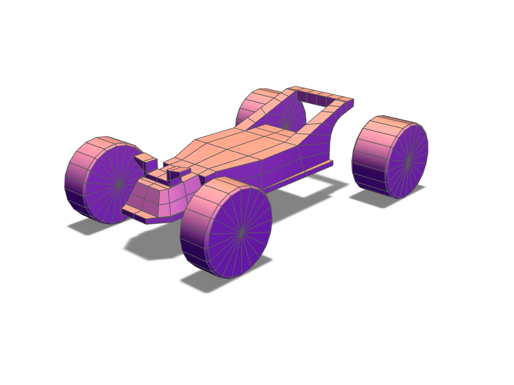 Toy car chassis template - 3D design by VECTARY Jul 26, 2017