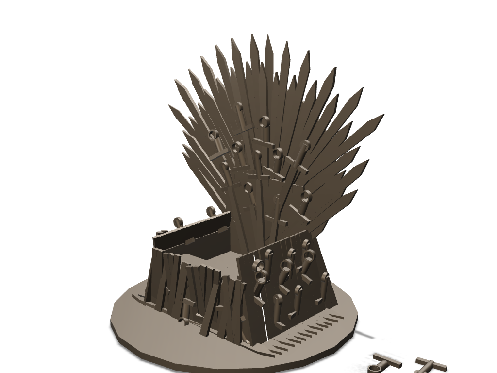 Mobile's Iron throne - 3D design by saurabh shirolkar Sep 3, 2017