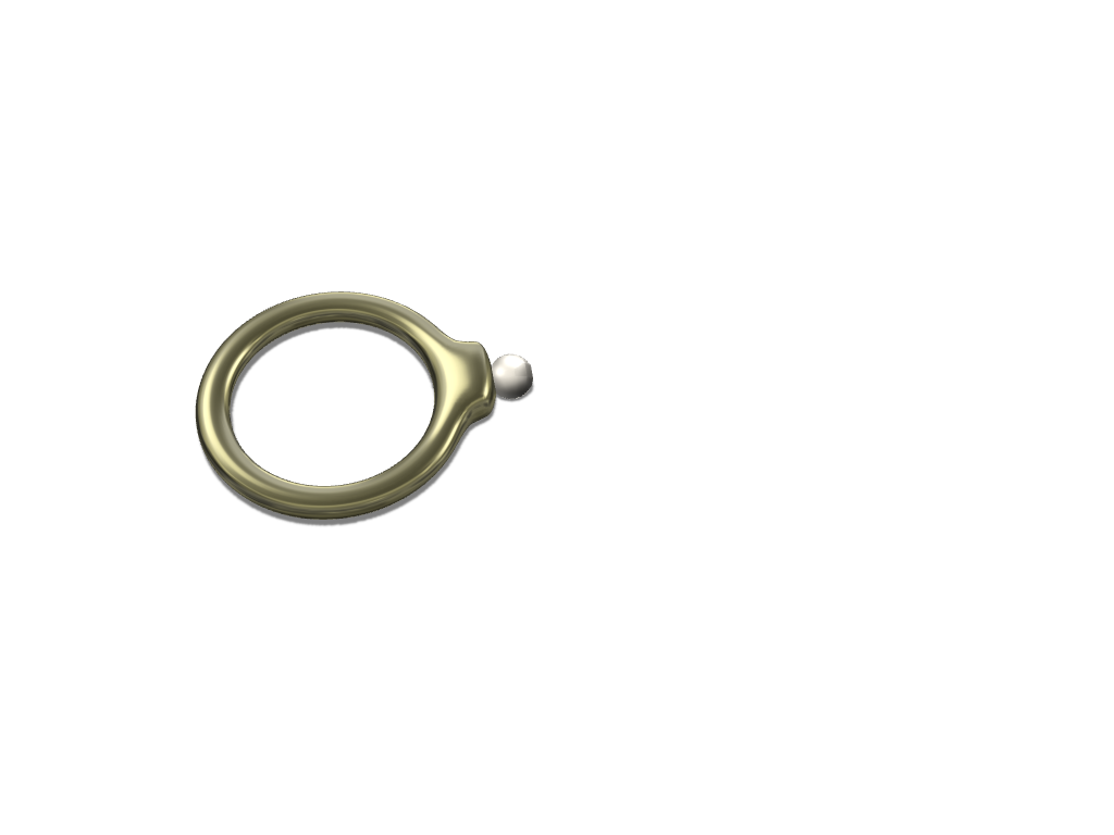 pearl ring  - 3D design by miriam.silva on Aug 22, 2017