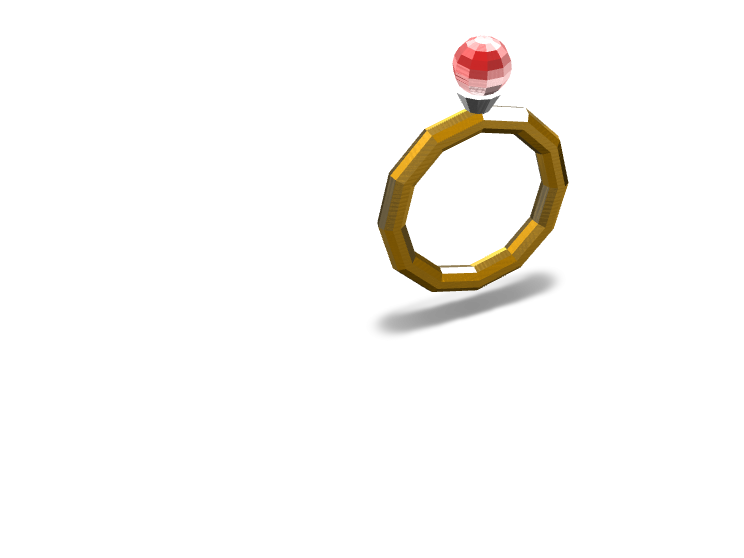 ruby ring - 3D design by lily1.tighe on Jan 8, 2018