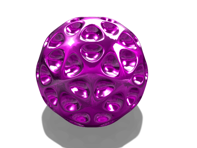 decorative ball - 3D design by K.K. Studios on Apr 17, 2018