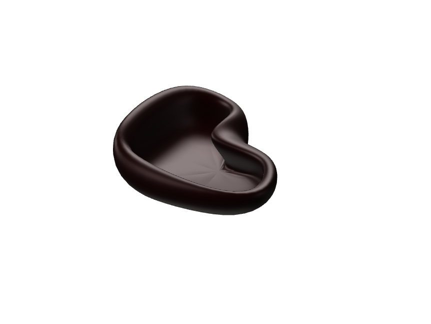 Black heart bowl - 3D design by Bronislava Molnárová Dec 1, 2017