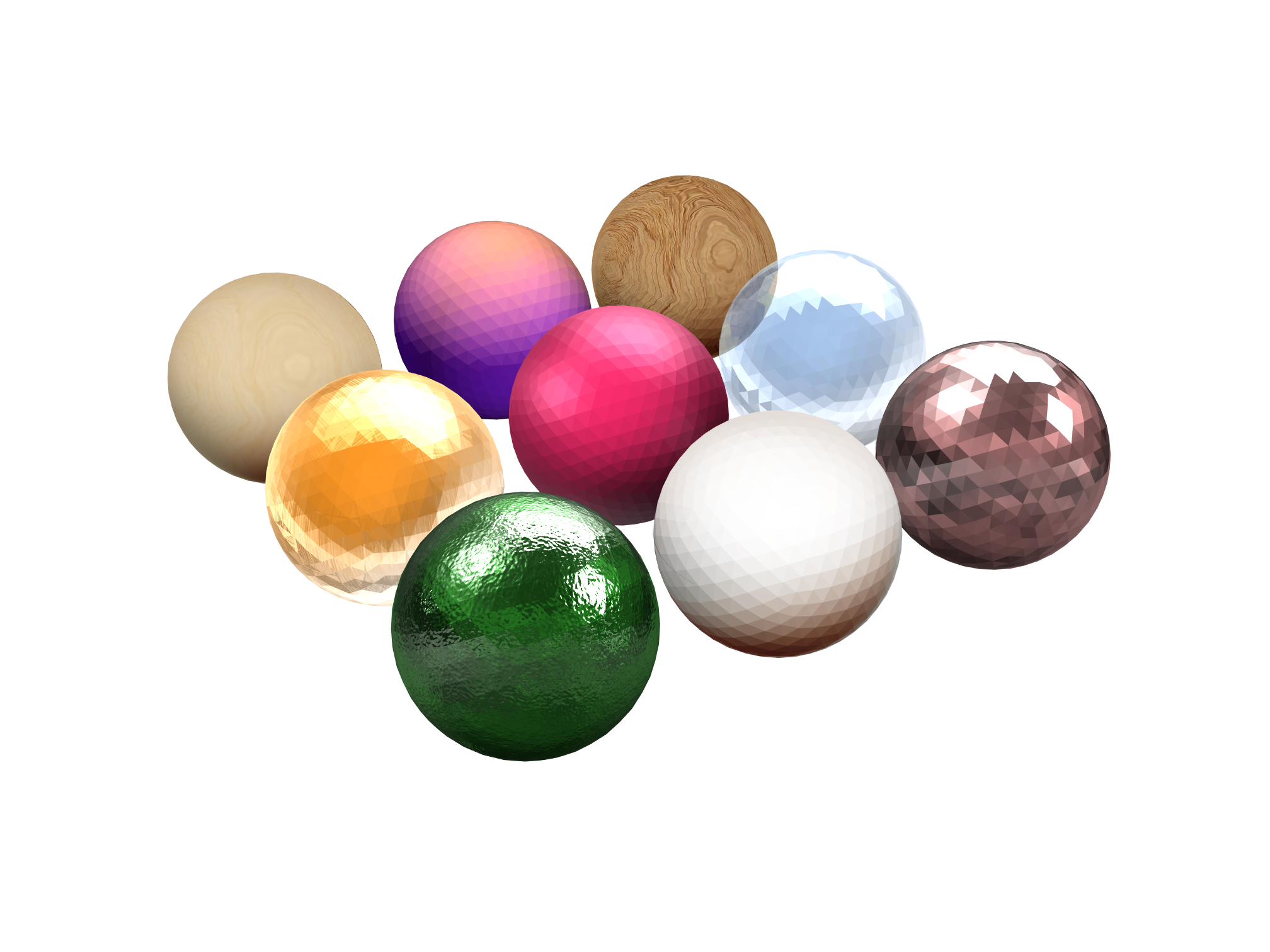 Sphere materials - 3D design by Ngan Vu Mar 3, 2018