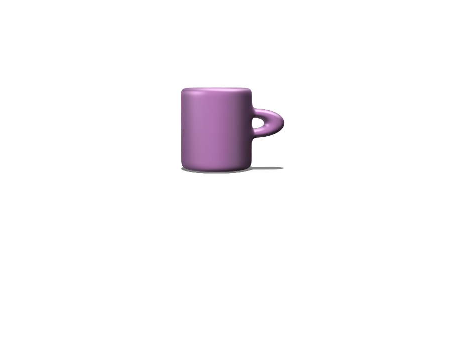 Pink mug - 3D design by strap024.315 May 25, 2018
