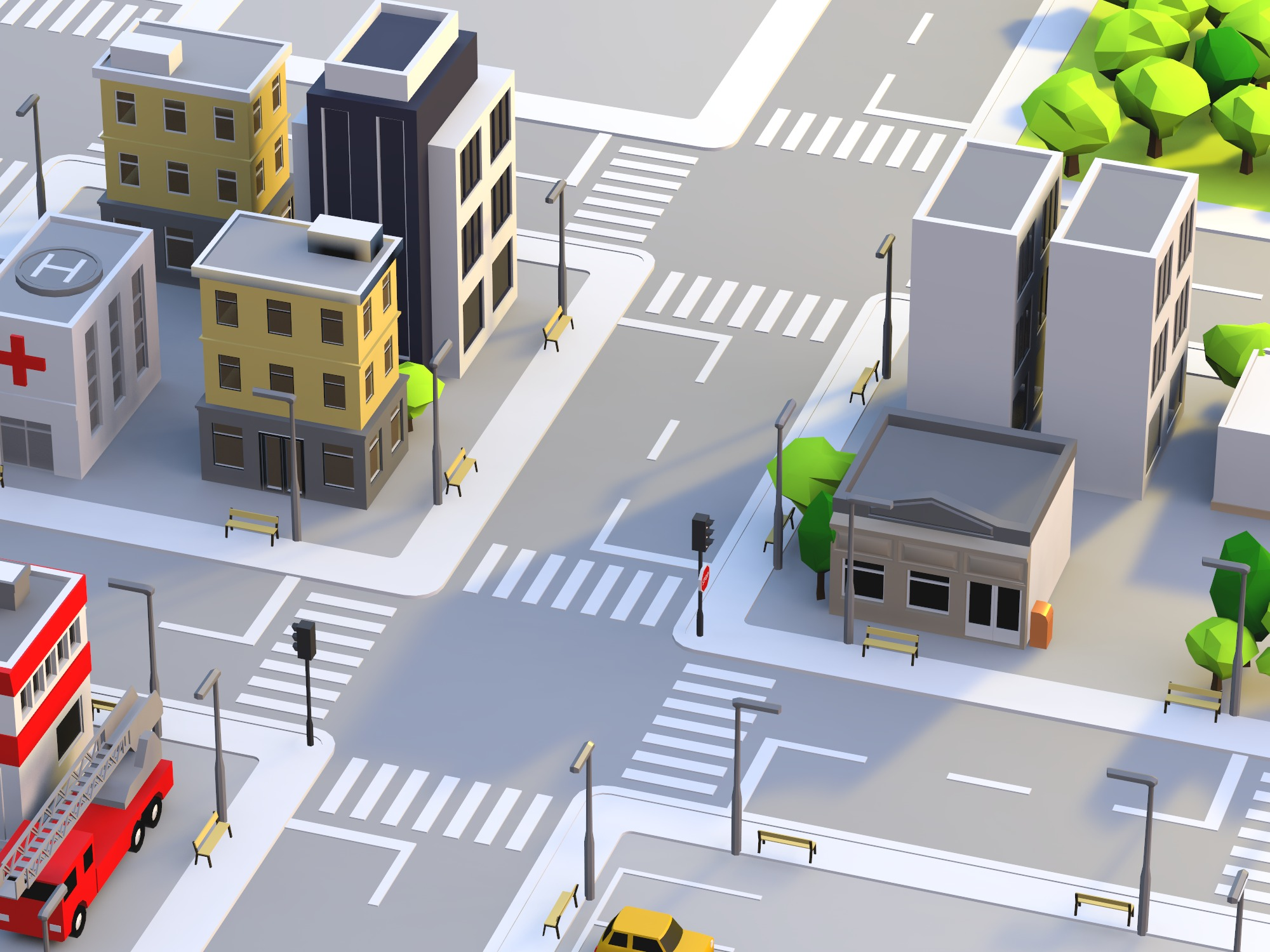 Build a city - drag and drop objects (copy) - 3D design by cyphergamezbusiness on Nov 17, 2018