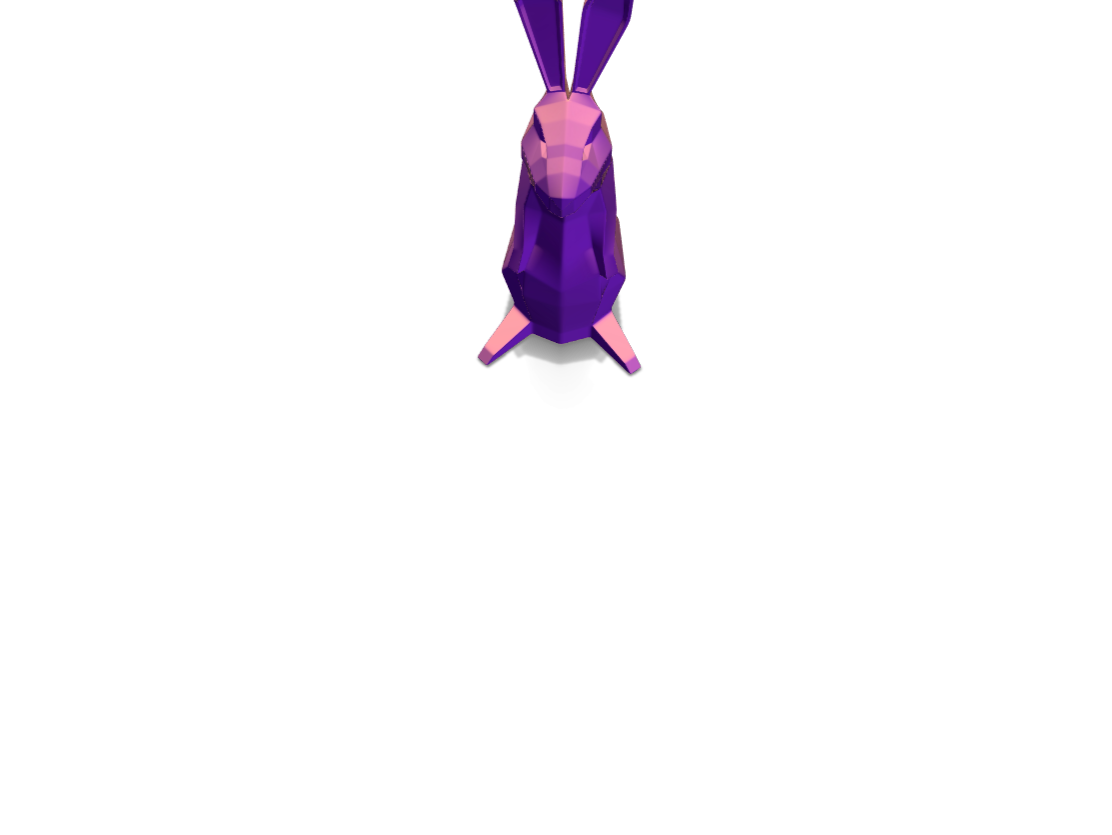 Low Poly Easter Bunny - 3D design by Ajinkya Aarti Arvind Mayekar Apr 5, 2018