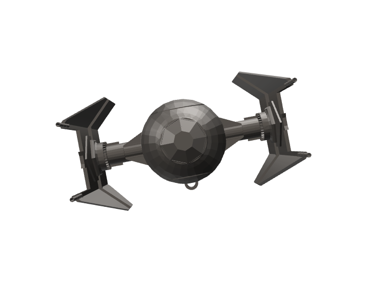 TIE Fighter Interceptor - 3D design by wbfnitzj19 Dec 8, 2017