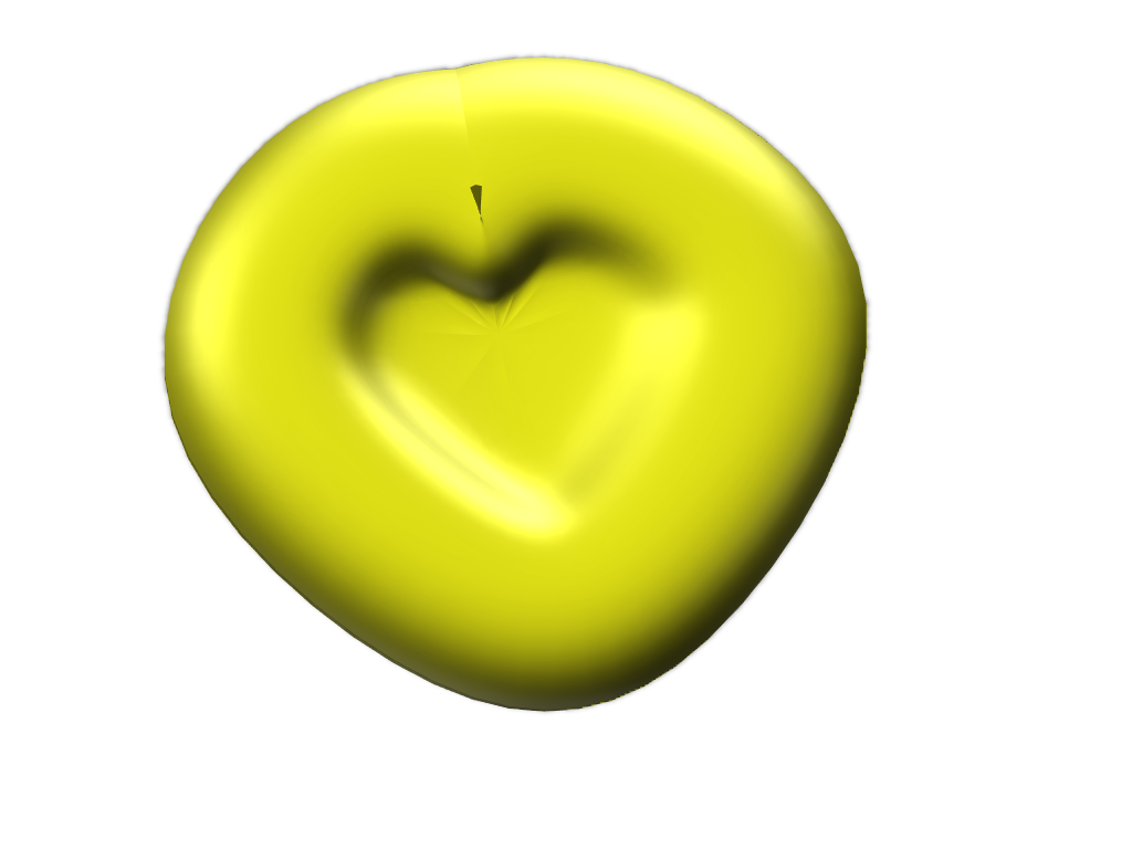 Heart bowl (yellow - 3D design by Fixedalmond52!!! ¯\_(ツ)_/¯ May 24, 2018