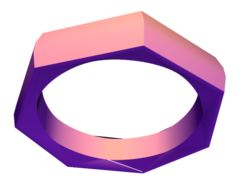 HEPTAGON RING - 3D design by Christopher Roland on Jul 2, 2017