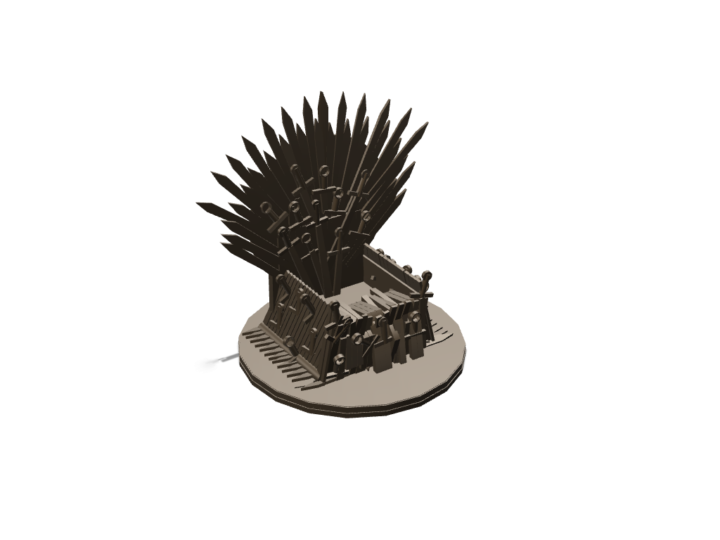 Mobile's Iron throne updated latest - 3D design by saurabh shirolkar Sep 5, 2017