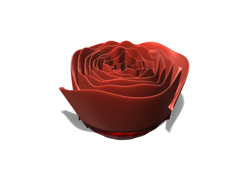 Rose - 3D design by Haz-Azel on Aug 19, 2017