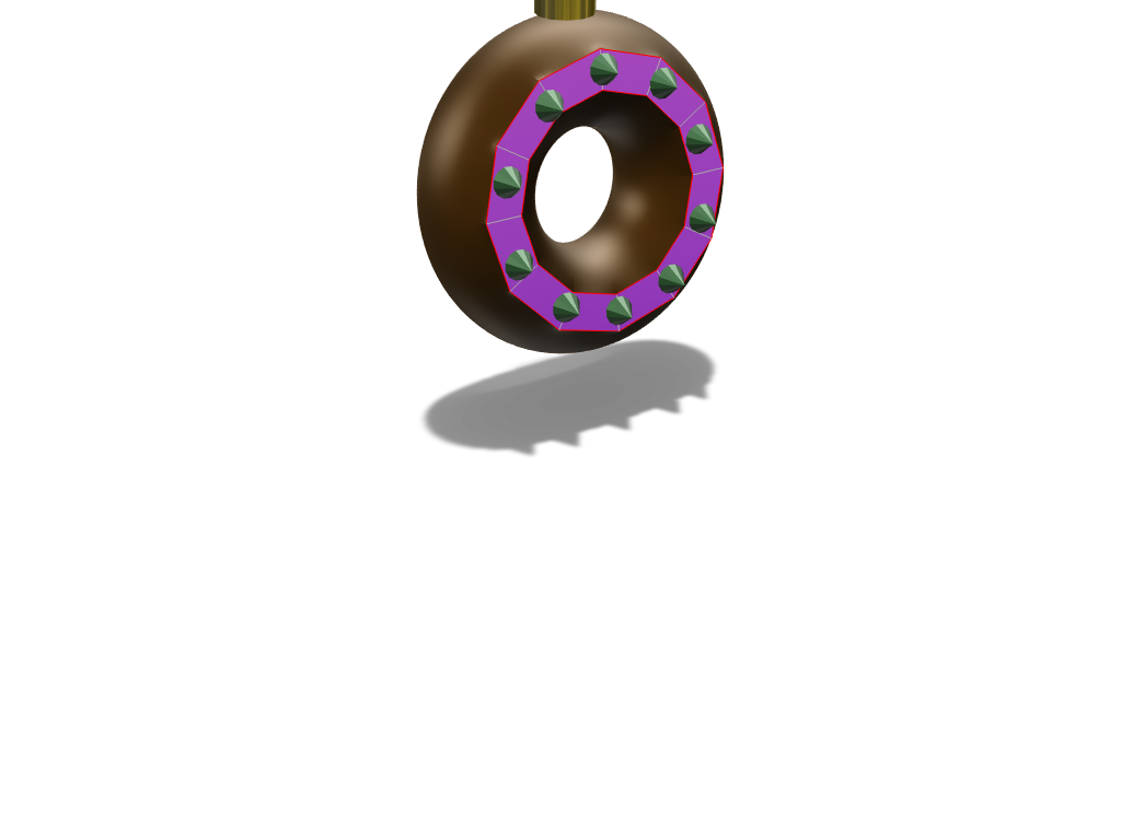 Xmas Donut Ornament - 3D design by ogevans1 on Dec 14, 2017