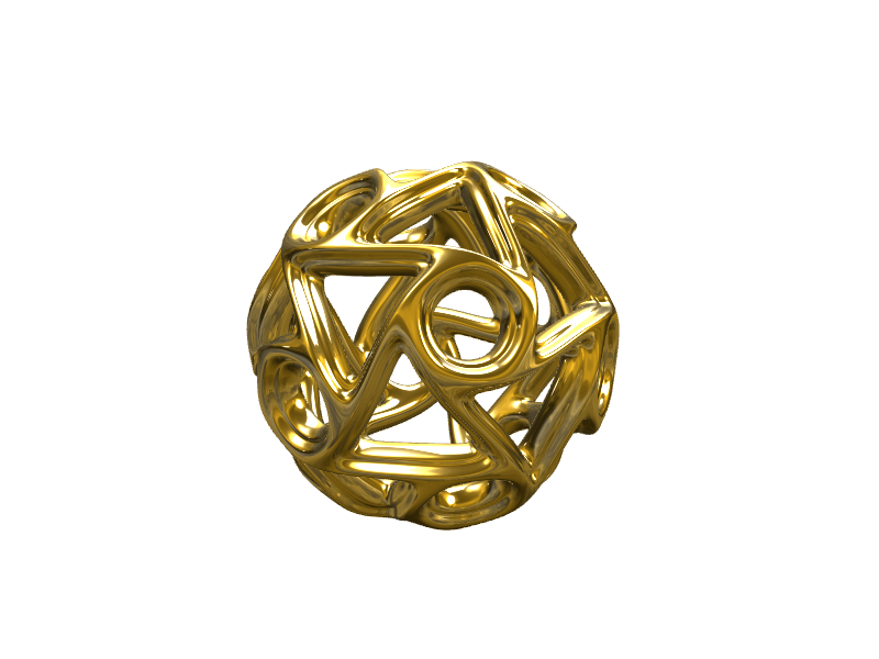 Geometrical pendant - 3D design by ilmar3designs Nov 25, 2017