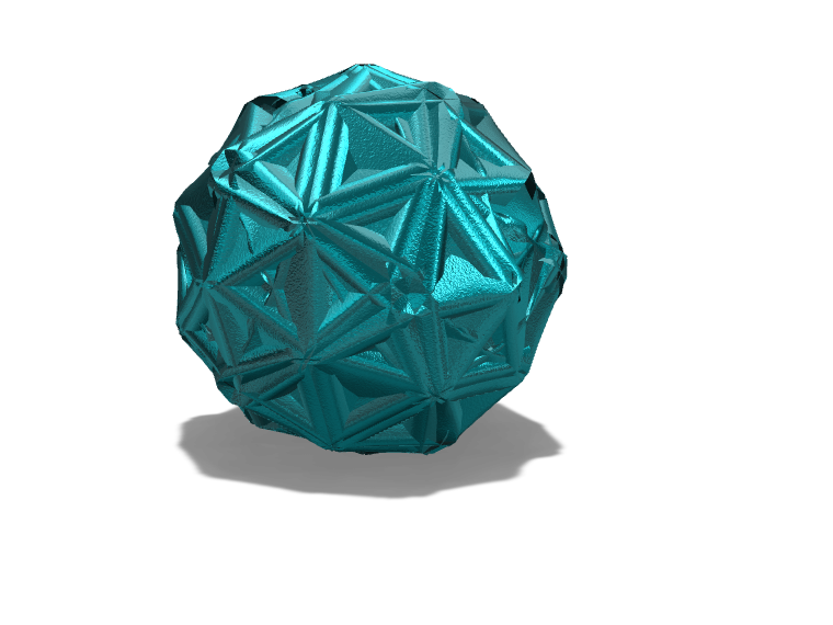 Blue Christmas Ornament - 3D design by hannahwenzlick on Dec 4, 2017
