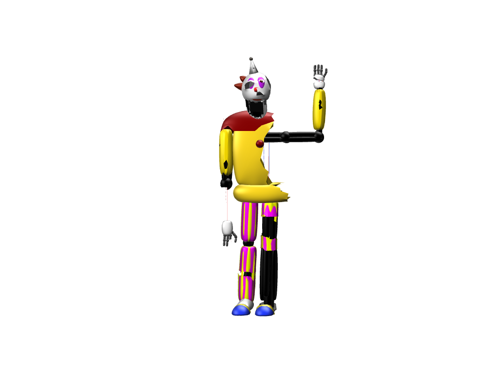 Broken clown - 3D design by sebastiandollybbb Nov 3, 2017