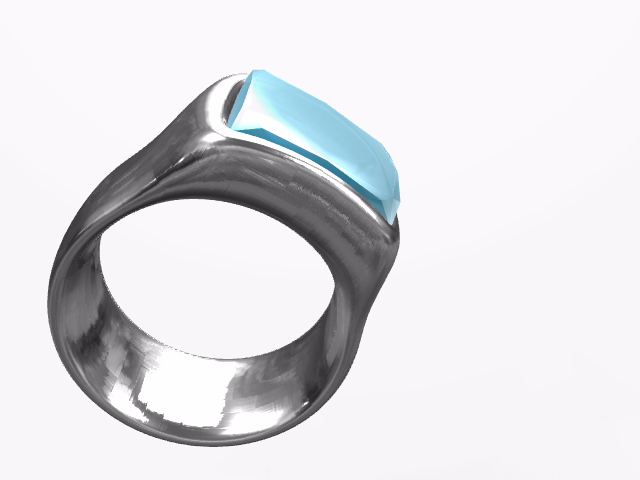 Ring With Saphire - 3D design by Juan Sep 14, 2016