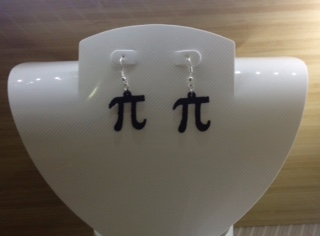Pi Necklace or Earrings - 3D design by kat.hamill22 Sep 2, 2017