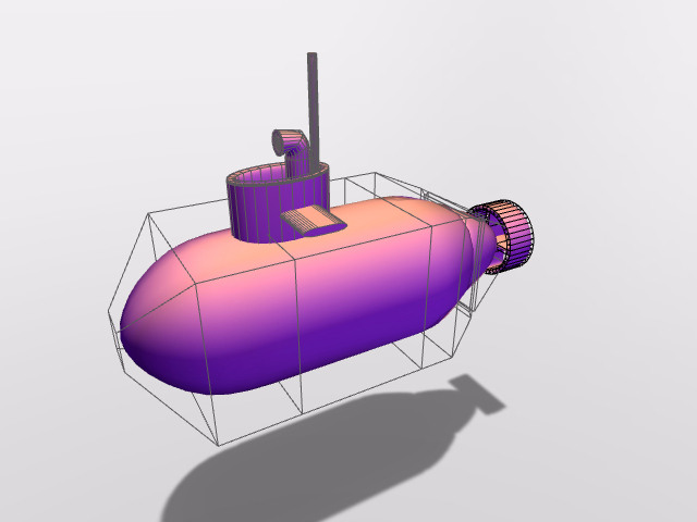 little submarine - 3D design by Andy Klement Aug 21, 2016