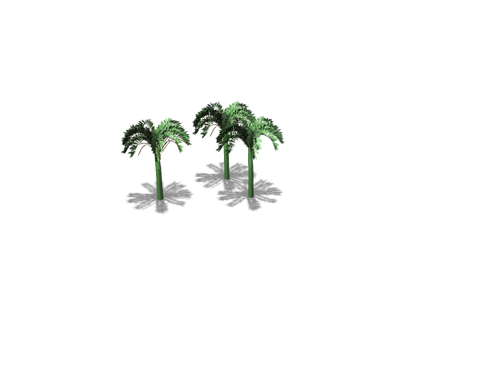 Palm trees - 3D design by don't talk to me Jan 12, 2018