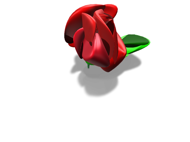 Rose - 3D design by twinbee.lebou Feb 15, 2018