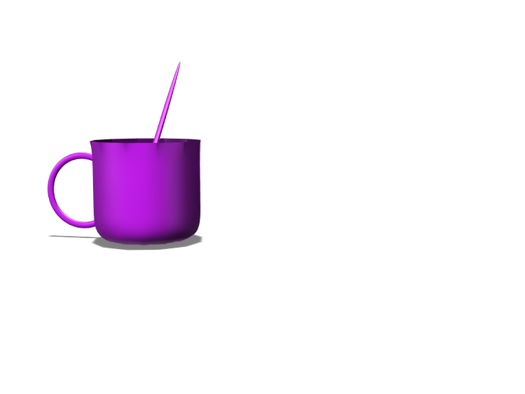 mug and a spoon - 3D design by dbarajas-ve May 15, 2018