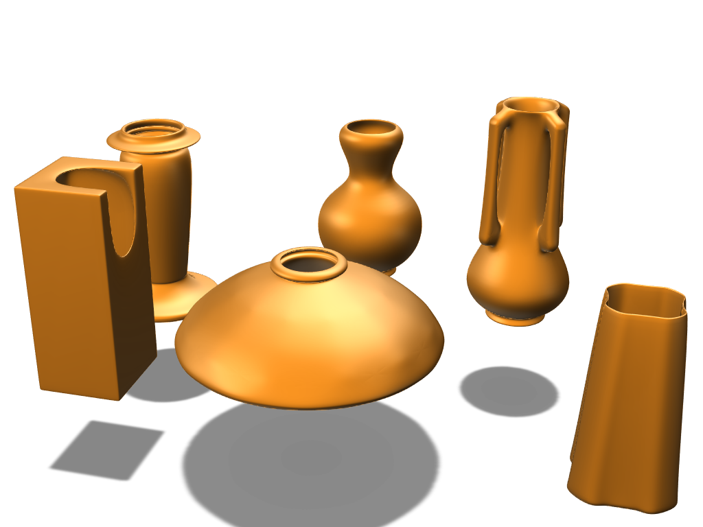 mini vases - 3D design by Alexander Evans Feb 10, 2018